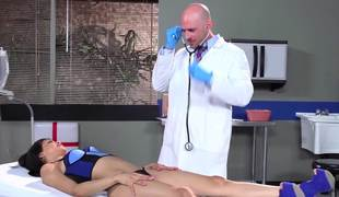 Doctor with a fat shaft pounding his thin Latina patient